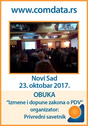 Obuka o izmenama i dopunama zakona o PDV, Novi Sad