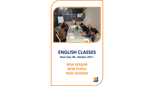 English classes, New Season, new students