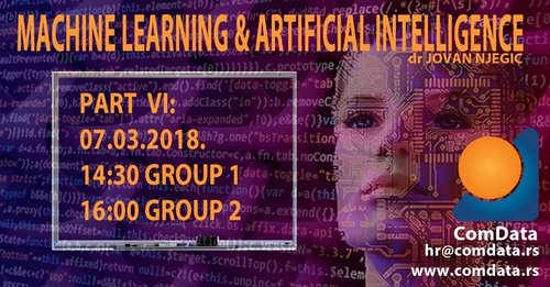 Machine learning and Artificial intelligence course, part VI