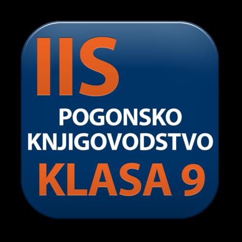 IIS modul POGONSKO KNJIGOVODSTVO - KLASA 9