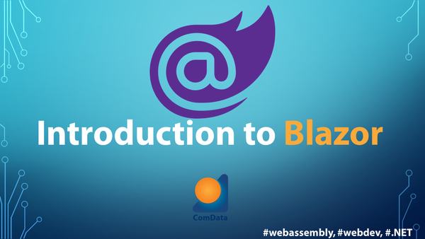 Introduction to Blazor lecture