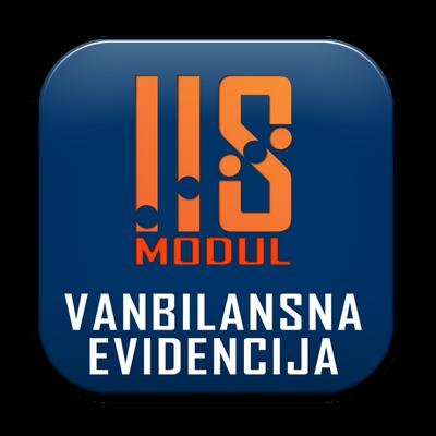IIS modul VANBILANSNA EVIDENCIJA